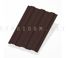 Профнастил С8 h=1,8м. RAL 8017 шоколадно-коричневый 0,35мм. Россия