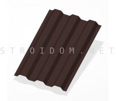 Профнастил С21 h=1,8м. RAL 8017 шоколадно-коричневый 0,45мм. Россия