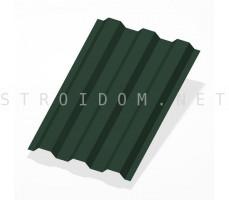 Профнастил С21 RAL 6005 зеленый мох полиэстер 0,4мм. 1п.м. Россия