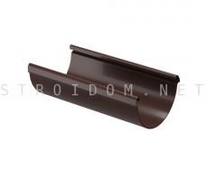 Желоб водосточный LUX 3м. Шоколад Деке Docke