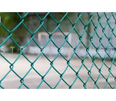 Сетка Рабица ПВХ ячейка 50x50 1,5м. x 10м. d=2,3мм. Зеленая