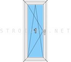 Окно одностворчатое Veka WHS однокамерный стеклопакет поворотно-откидное левое/правое Белый 600мм. x 1200мм.