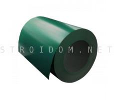 Рулон с полимерным покрытием 0,35мм. x 1250мм. RAL 6005 зелёный мох