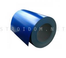 Рулон с полимерным покрытием 0,45мм. x 1250мм. RAL 5005 сигнальный синий