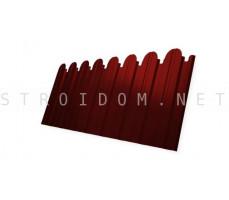 Профнастил C10В Фигурный 0,45мм. RAL 3011 коричнево-красный Полиэстер Гранд Лайн Grand Line