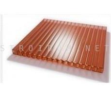 Сотовый поликарбонат 2,1м. x 6м. x 4мм. коричневый SKYGLASS Кинпласт