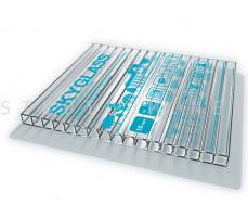 Сотовый поликарбонат 2,1м. x 6м. x 10мм. прозрачный SKYGLASS Кинпласт