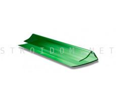 Профиль торцевой для поликарбоната  4-6мм. 2,1м. Зеленый