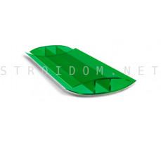 Профиль соединительный неразъемный для поликарбоната 4-6мм. Зеленый 6м.