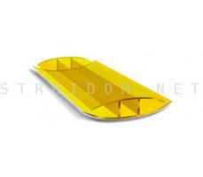 Профиль соединительный неразъемный для поликарбоната 4-6мм. Желтый 6м.