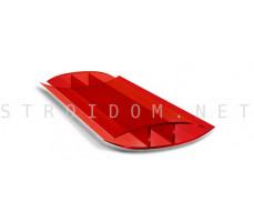 Профиль соединительный неразъемный для поликарбоната 4-6мм. Красный 6м.