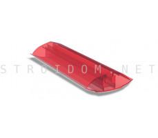 Профиль соединительный разъемный для поликарбоната 4-10мм. 6м. Красный
