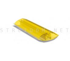 Профиль соединительный разъемный для поликарбоната 4-10мм. 6м. Желтый