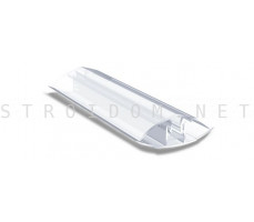 Профиль соединительный разъемный для поликарбоната 4-10мм. 6м. Прозрачный
