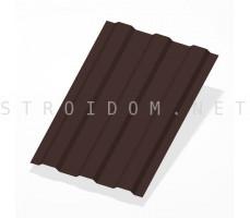 Профнастил С8 h=1,8м. RAL 8017 шоколадно-коричневый двусторонний 0,5мм. Россия