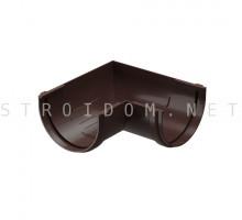 Угловой элемент желоба 90° универсальный STANDART Темно коричневый Деке Docke