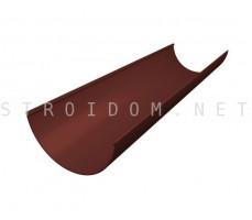 Желоб водосточный ПВХ Grand Line Стандарт 3м RAL 8017 Шоколад