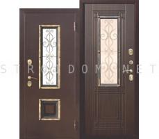 Входная дверь  со стеклопакетом ВЕНЕЦИЯ ВЕНГЕ