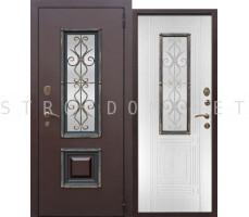Входная дверь  со стеклопакетом ВЕНЕЦИЯ БЕЛЫЙ ЯСЕНЬ