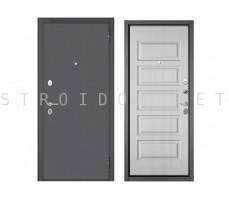 Входная дверь Бульдорс MASS 70 Букле графит/МДФ Ларче белый, М-108