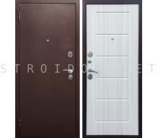Дверь входная Оптима СТЕП Медный антик/Сандал белый 960x2070 мм