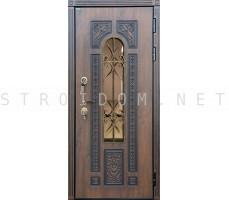 Дверь стальная ЛАЦИО Дуб темный (Винорит)/Алмон 25 (Винорит) 960x2070